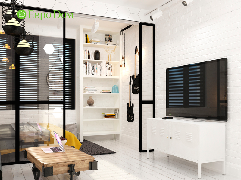 Дизайн квартиры в стиле лофт. Фото 08