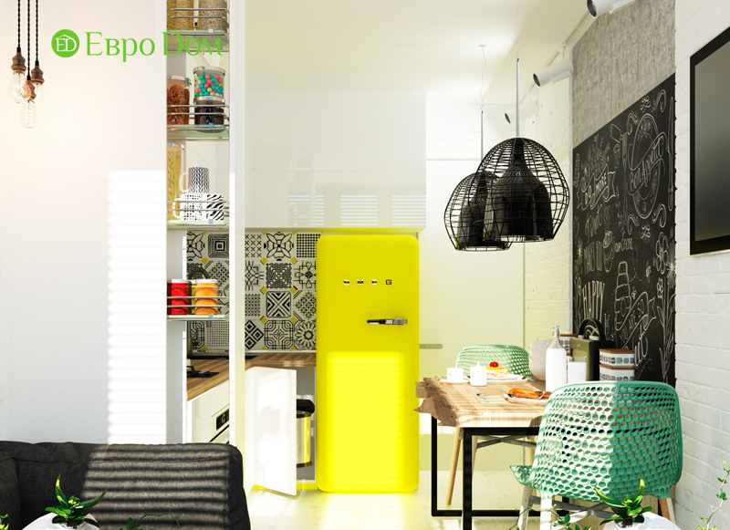 Дизайн квартиры в стиле лофт. Фото 09