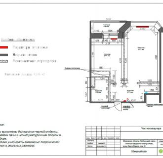 Дизайн однокомнатной квартиры 41 кв. м в стиле лофт. Фото проекта