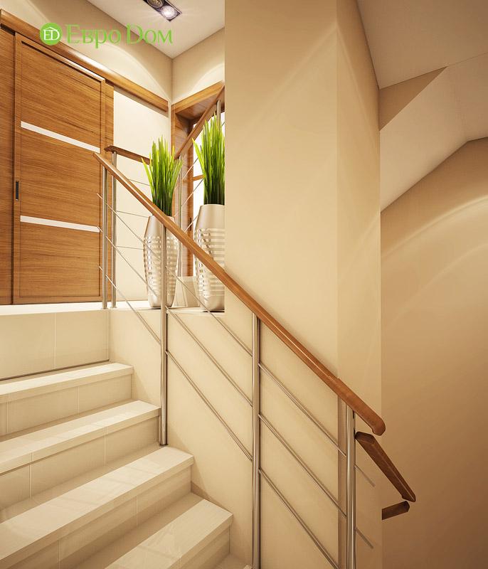 Дизайн интерьера таунхауса 126 кв. м в современном стиле. Фото 011