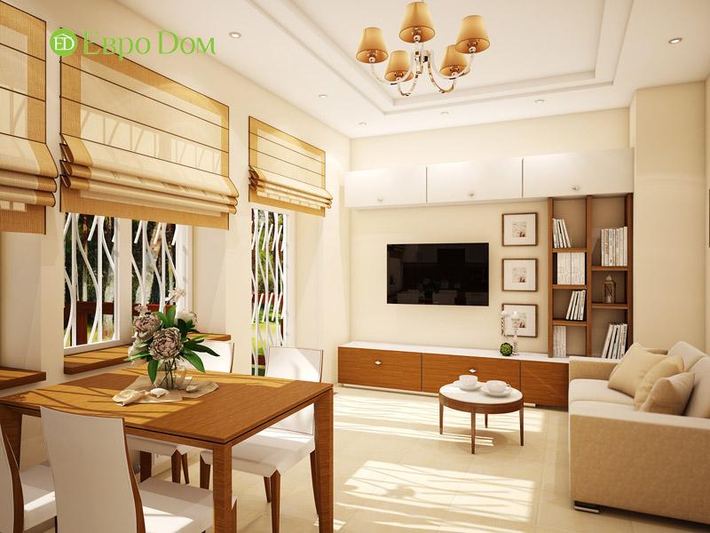 Дизайн интерьера таунхауса 126 кв. м в современном стиле. Фото 021