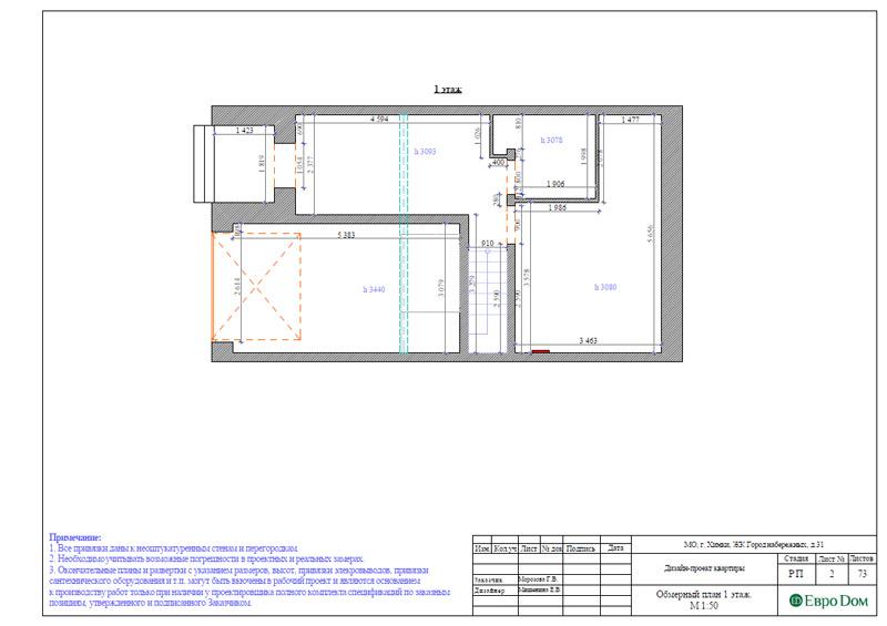 Дизайн интерьера таунхауса 126 кв. м в современном стиле. Фото 028