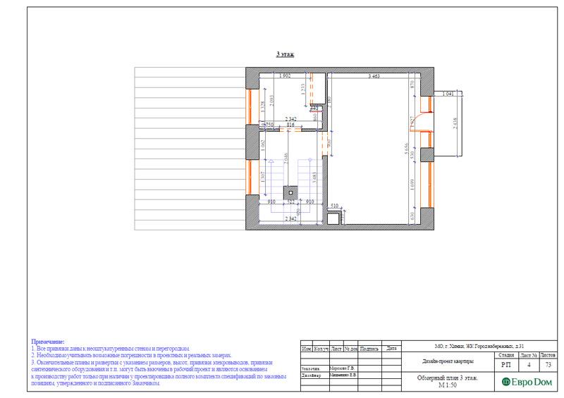 Дизайн интерьера таунхауса 126 кв. м в современном стиле. Фото 030