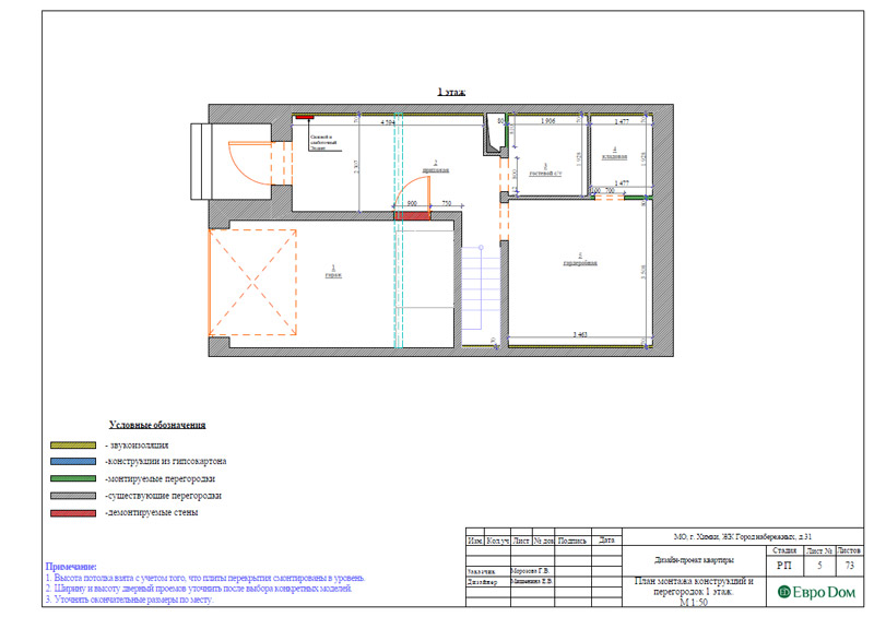 Дизайн интерьера таунхауса 126 кв. м в современном стиле. Фото 031