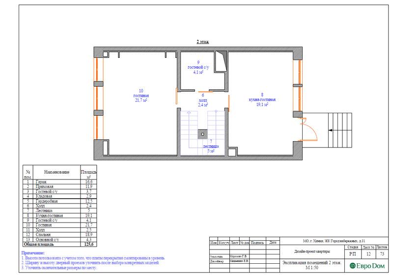 Дизайн интерьера таунхауса 126 кв. м в современном стиле. Фото 038