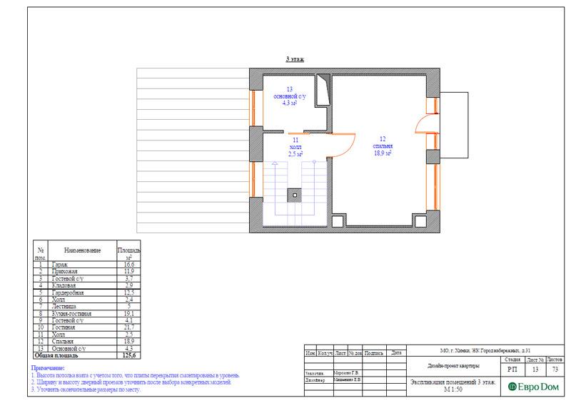 Дизайн интерьера таунхауса 126 кв. м в современном стиле. Фото 039