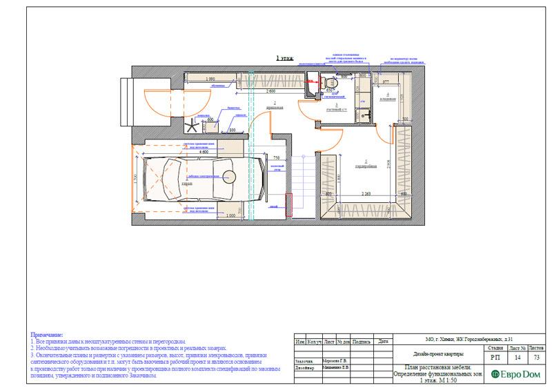 Дизайн интерьера таунхауса 126 кв. м в современном стиле. Фото 040