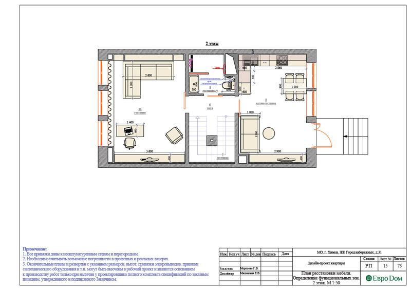 Дизайн интерьера таунхауса 126 кв. м в современном стиле. Фото 041