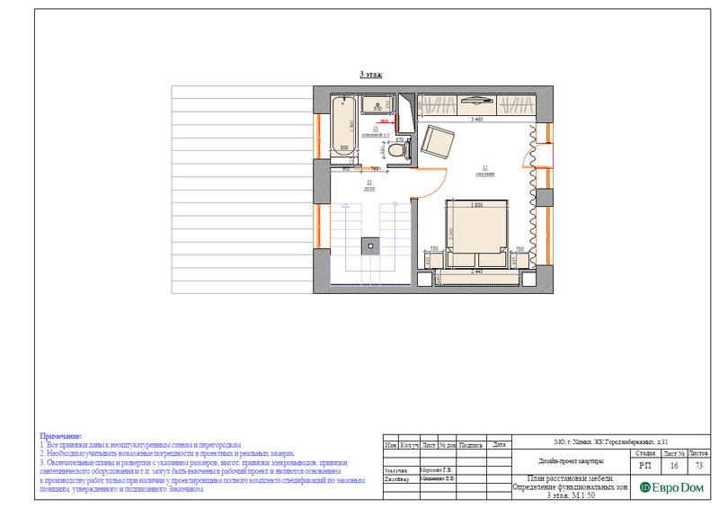 Дизайн интерьера таунхауса 126 кв. м в современном стиле. Фото 042