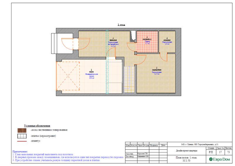Дизайн интерьера таунхауса 126 кв. м в современном стиле. Фото 043