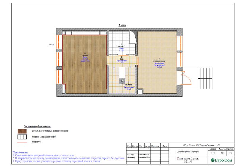 Дизайн интерьера таунхауса 126 кв. м в современном стиле. Фото 044