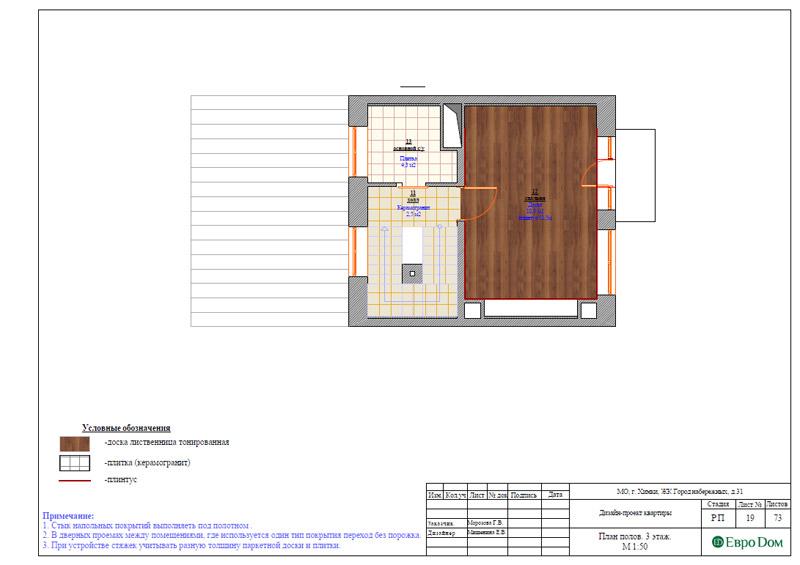 Дизайн интерьера таунхауса 126 кв. м в современном стиле. Фото 045