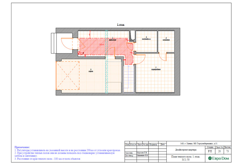 Дизайн интерьера таунхауса 126 кв. м в современном стиле. Фото 046