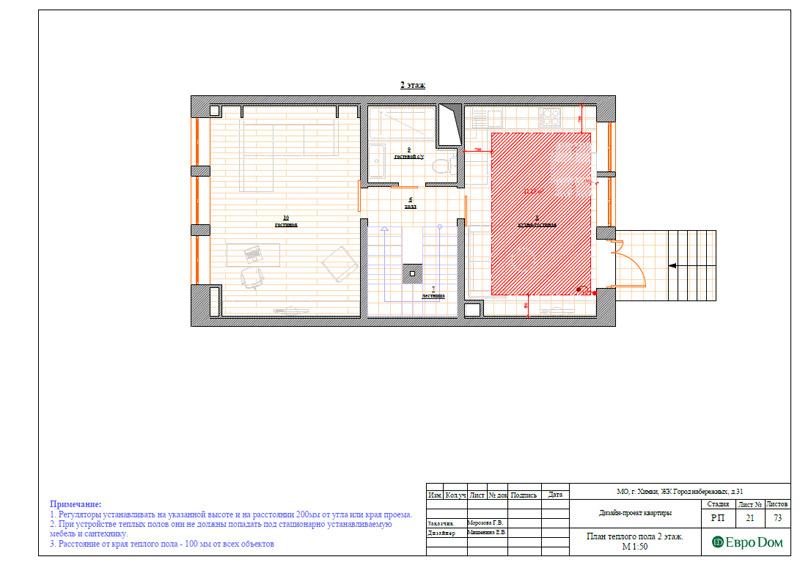 Дизайн интерьера таунхауса 126 кв. м в современном стиле. Фото 047