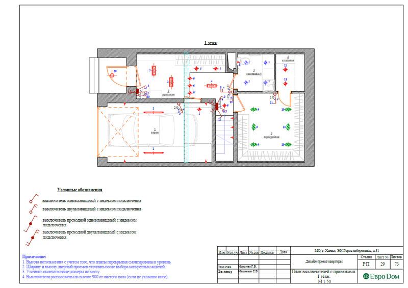 Дизайн интерьера таунхауса 126 кв. м в современном стиле. Фото 056
