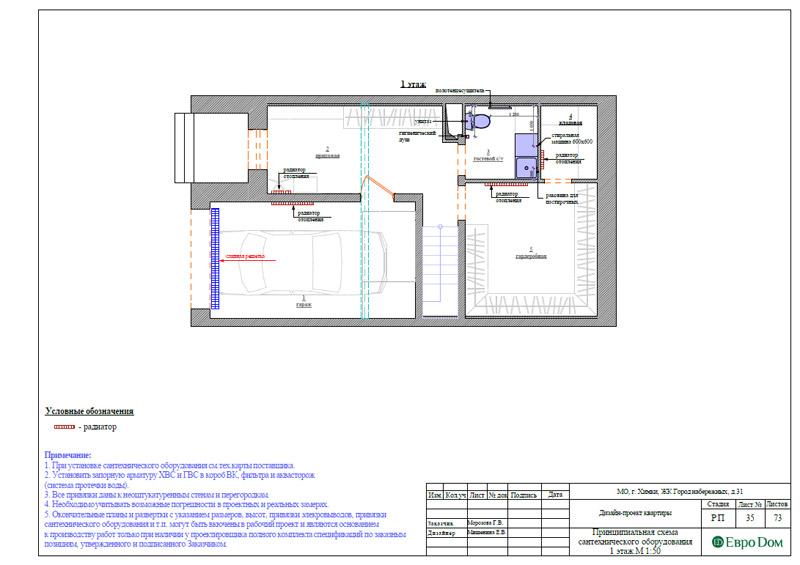 Дизайн интерьера таунхауса 126 кв. м в современном стиле. Фото 062
