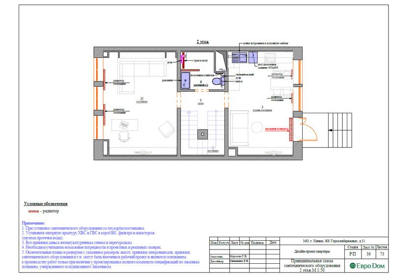 Дизайн интерьера таунхауса 126 кв. м в современном стиле. Фото 063
