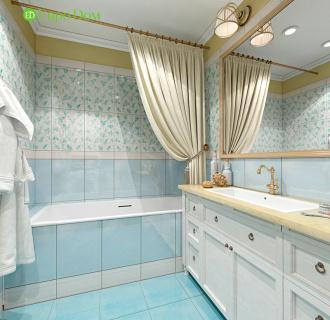 Дизайн трехкомнатной квартиры 79 кв. м в английском стиле. Фото проекта