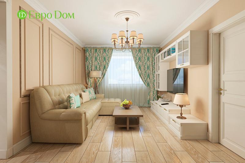 Дизайн трехкомнатной квартиры 79 кв. м в английском стиле. Фото 06