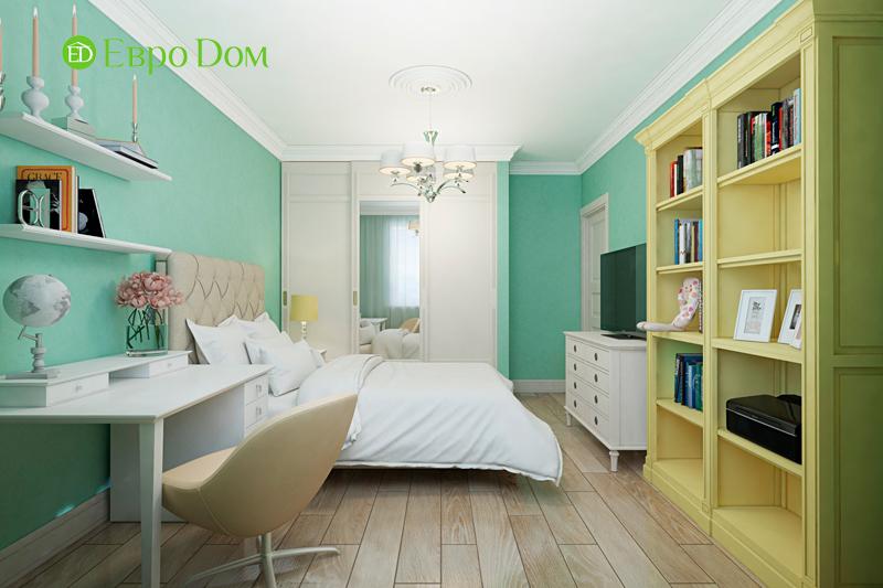 Дизайн трехкомнатной квартиры 79 кв. м в английском стиле. Фото 011