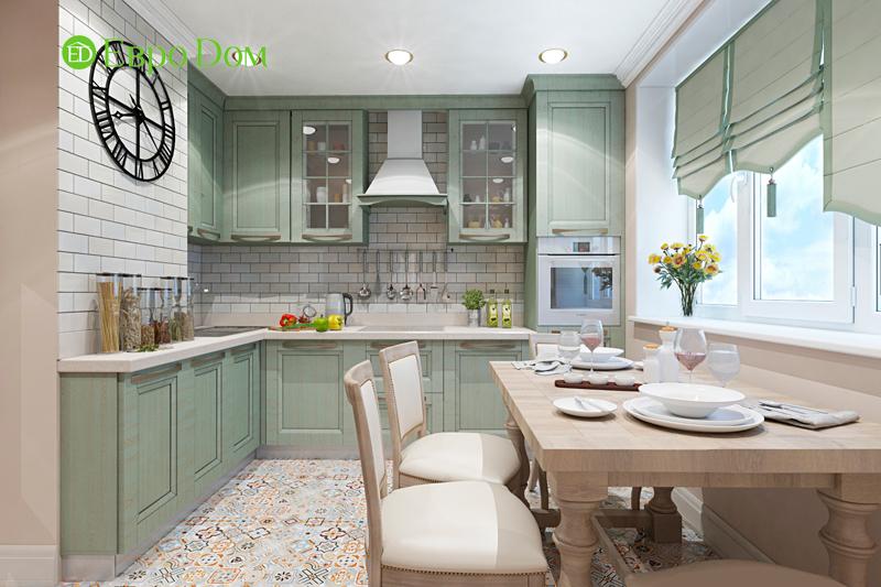 Дизайн трехкомнатной квартиры 79 кв. м в английском стиле. Фото 013