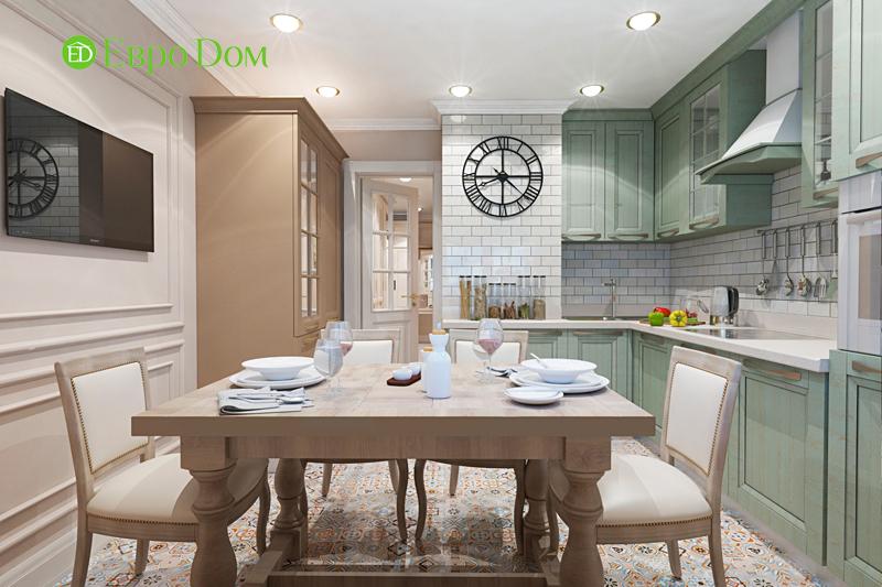 Дизайн трехкомнатной квартиры 79 кв. м в английском стиле. Фото 014