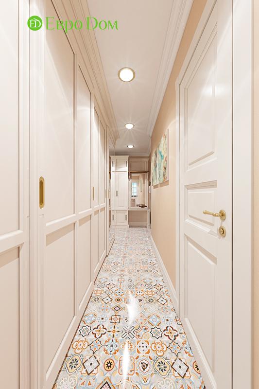 Дизайн трехкомнатной квартиры 79 кв. м в английском стиле. Фото 017