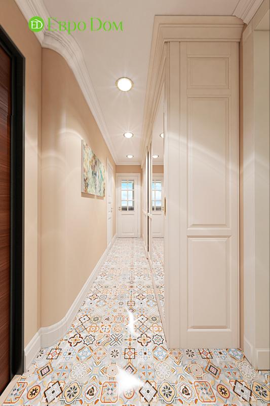 Дизайн трехкомнатной квартиры 79 кв. м в английском стиле. Фото 019