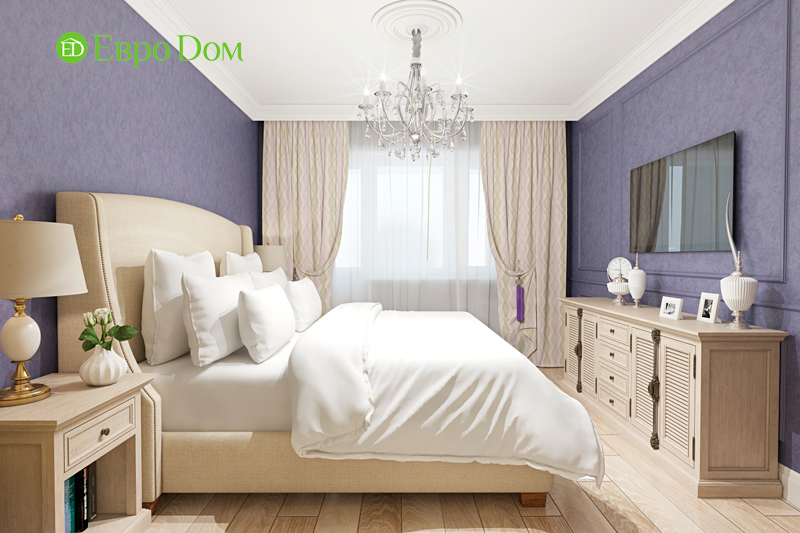 Дизайн трехкомнатной квартиры 79 кв. м в английском стиле. Фото 023