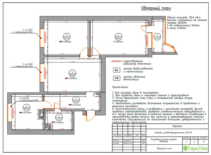 Дизайн трехкомнатной квартиры 79 кв. м в английском стиле. Фото 024