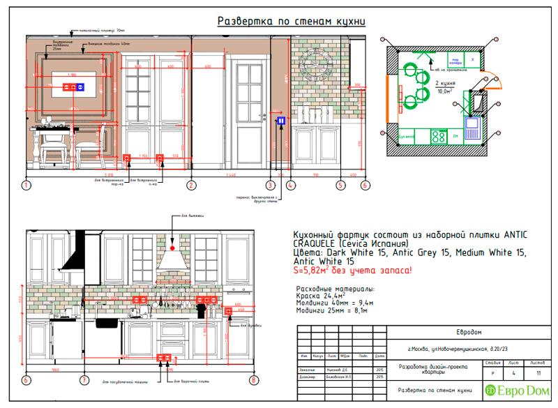 Дизайн трехкомнатной квартиры 79 кв. м в английском стиле. Фото 026