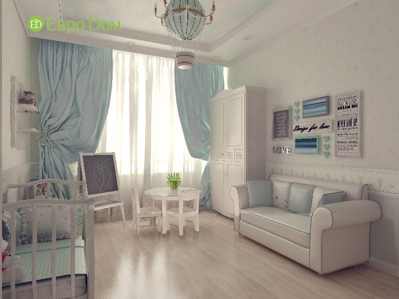 Дизайн 3-комнатной квартиры в классическом стиле. Фото 09