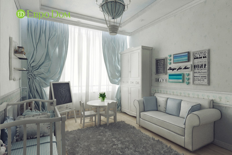 Дизайн 3-комнатной квартиры в классическом стиле. Фото 012