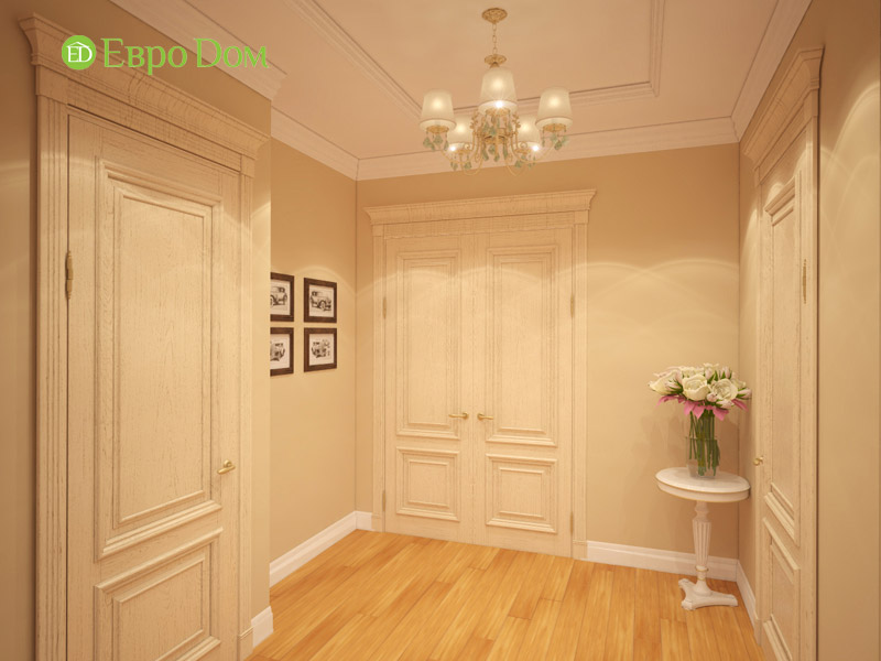 Дизайн 3-комнатной квартиры в классическом стиле. Фото 015