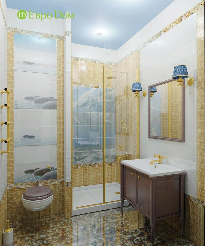 Дизайн 3-комнатной квартиры в классическом стиле. Фото 018