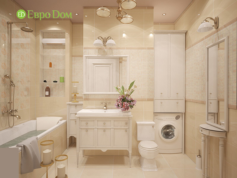Дизайн 3-комнатной квартиры в классическом стиле. Фото 021