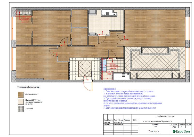 Дизайн 3-комнатной квартиры в классическом стиле. Фото 031