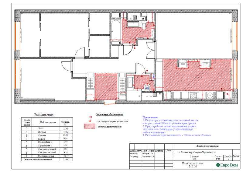 Дизайн 3-комнатной квартиры в классическом стиле. Фото 032