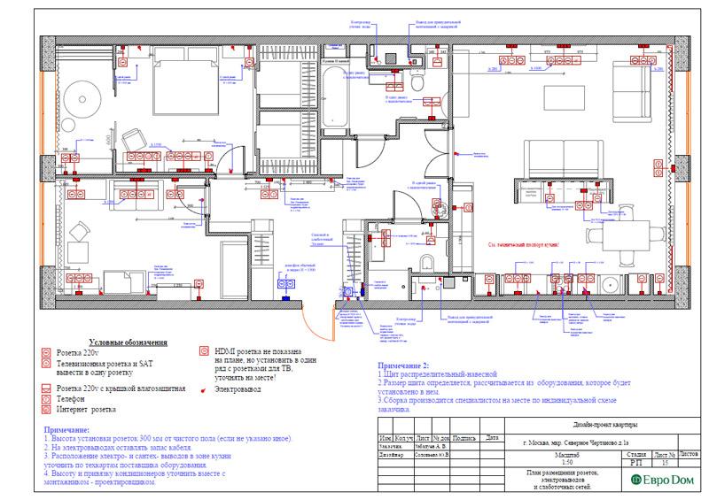Дизайн 3-комнатной квартиры в классическом стиле. Фото 038