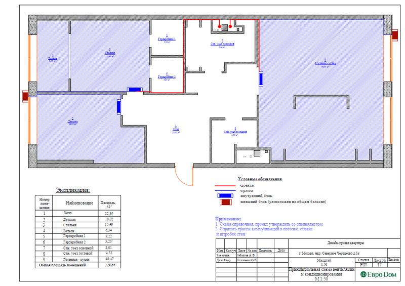 Дизайн 3-комнатной квартиры в классическом стиле. Фото 040