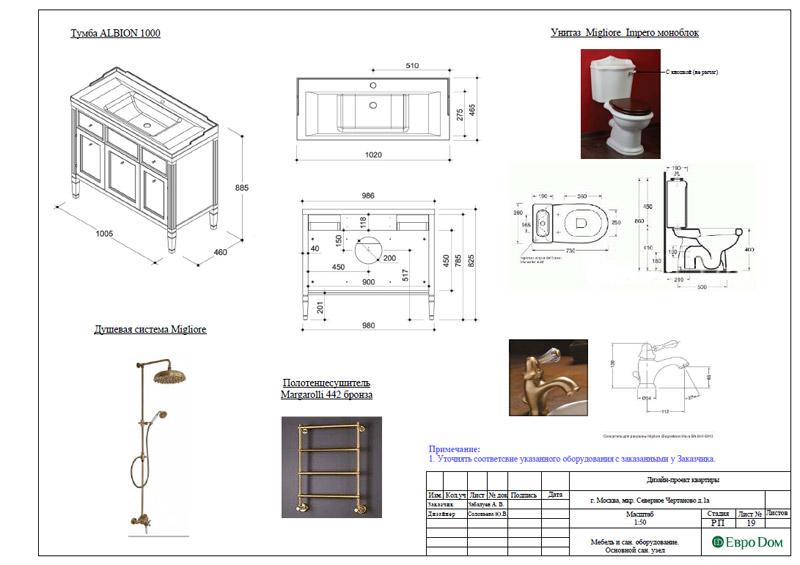 Дизайн 3-комнатной квартиры в классическом стиле. Фото 048