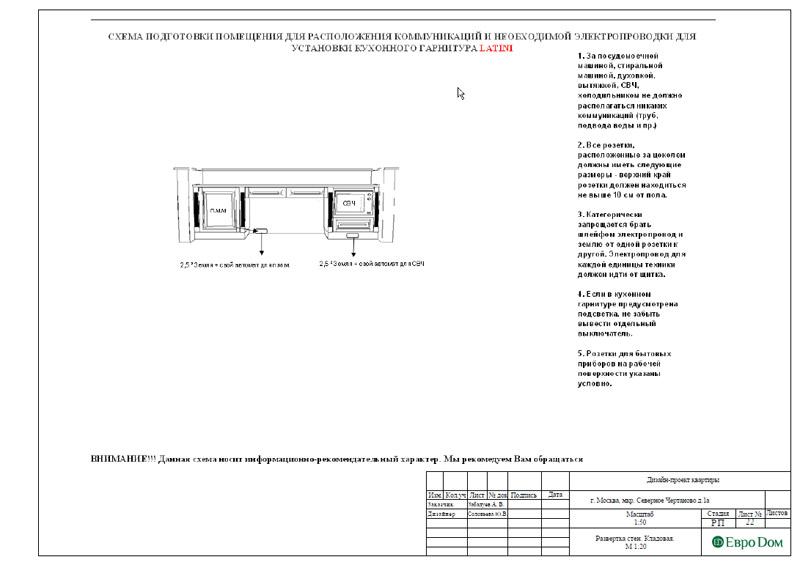 Дизайн 3-комнатной квартиры в классическом стиле. Фото 051