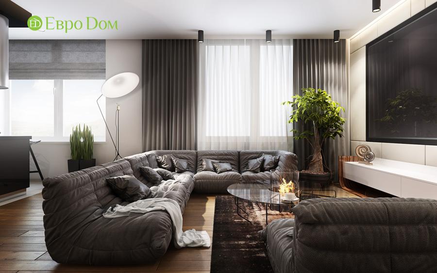 Дизайн 3-комнатной квартиры 193 кв. м в современном стиле. Фото 09