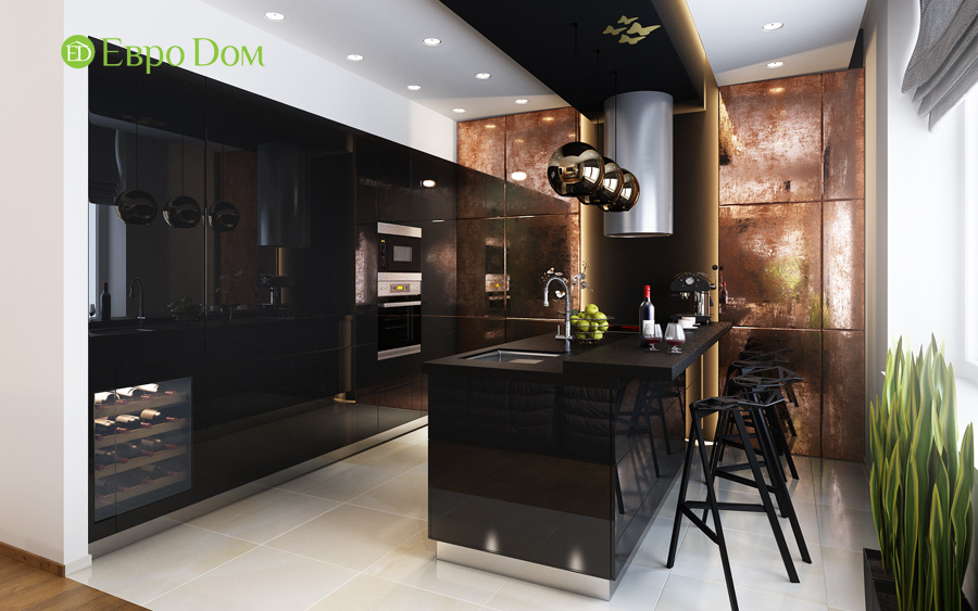 Дизайн 3-комнатной квартиры 193 кв. м в современном стиле. Фото 014