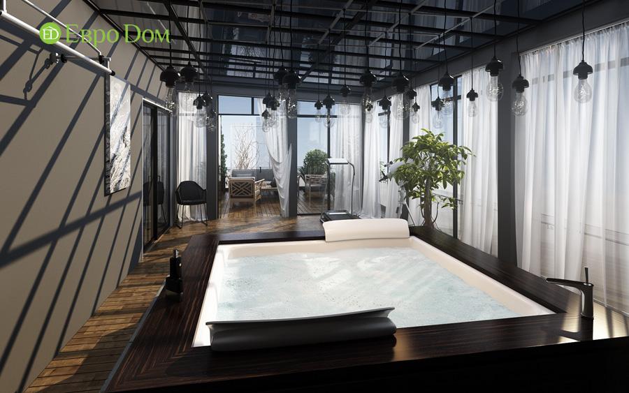 Дизайн 3-комнатной квартиры 193 кв. м в современном стиле. Фото 016