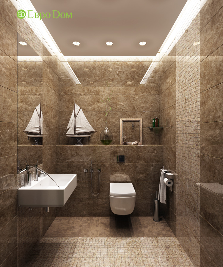 Дизайн 3-комнатной квартиры 193 кв. м в современном стиле. Фото 025