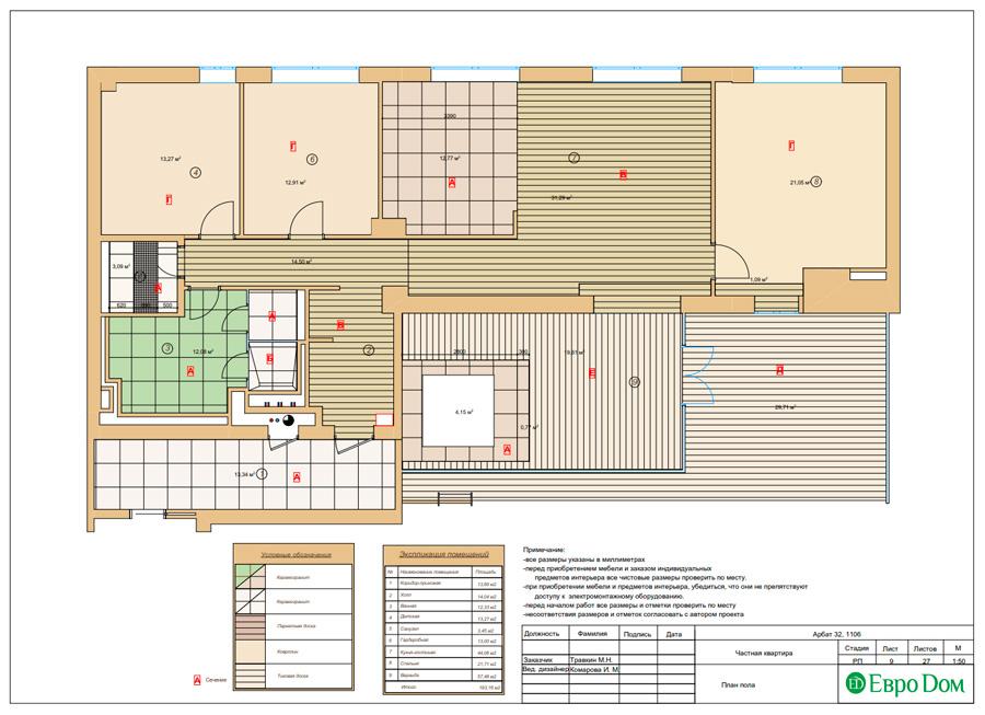 Дизайн 3-комнатной квартиры 193 кв. м в современном стиле. Фото 032