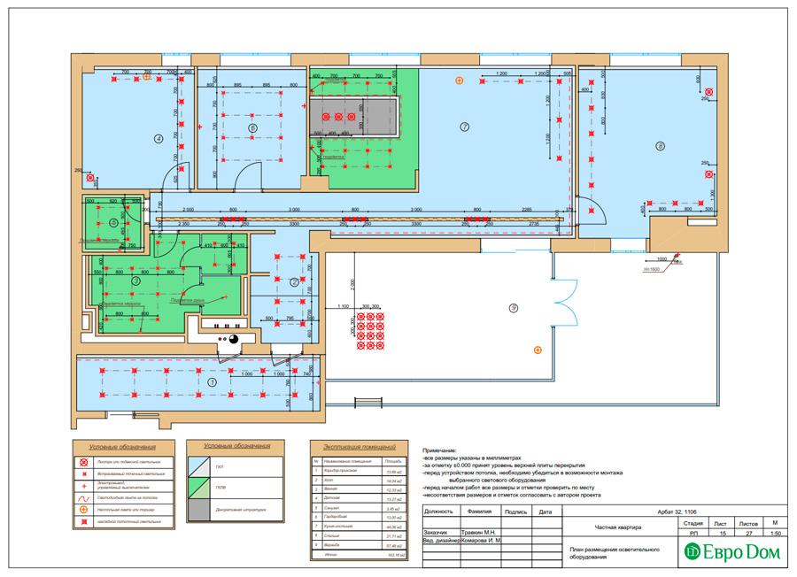Дизайн 3-комнатной квартиры 193 кв. м в современном стиле. Фото 038
