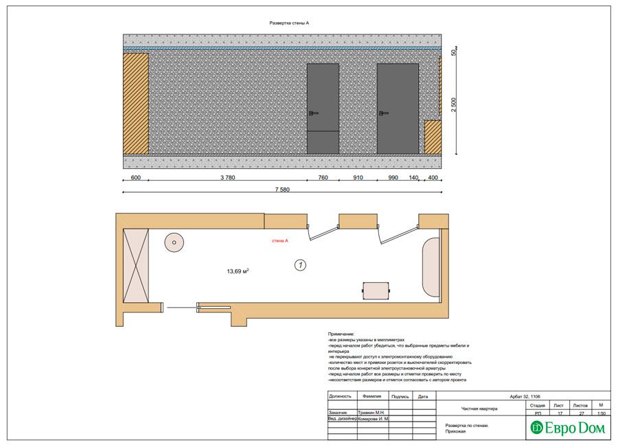 Дизайн 3-комнатной квартиры 193 кв. м в современном стиле. Фото 040