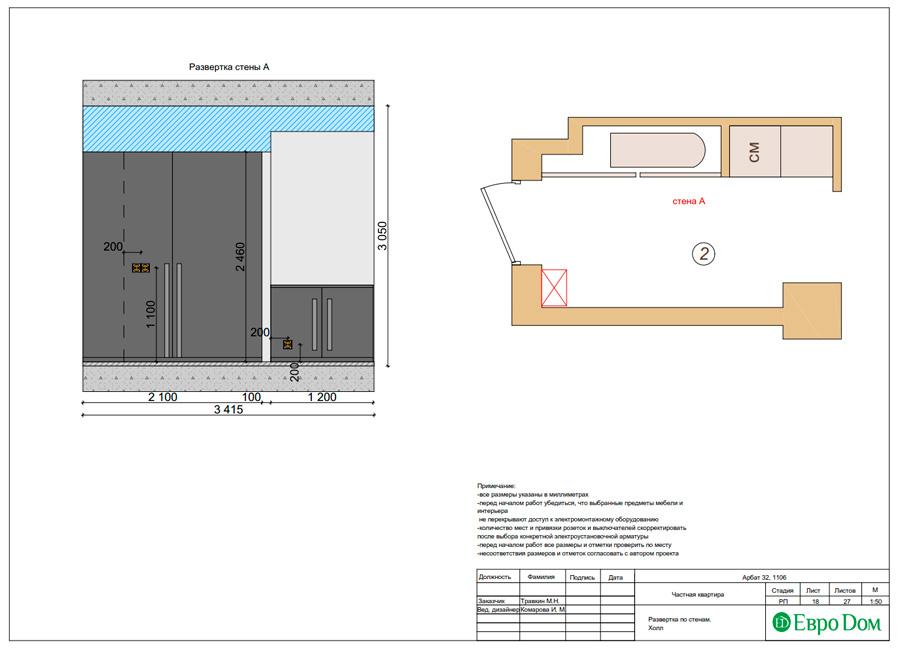 Дизайн 3-комнатной квартиры 193 кв. м в современном стиле. Фото 041